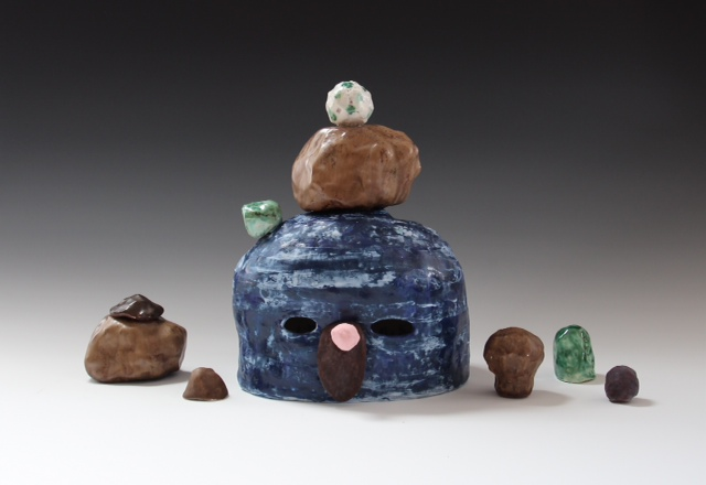 Lynda Draper - Mel 2013 - Earthenware - Various Glazes - Purchased from the exhbition Summon at Gallery Smith